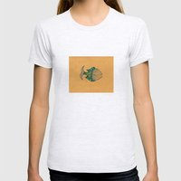 happy fish #4 Womens Fitted Tee Ash Grey SMALL