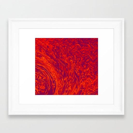 Electric Wave Framed Art Print