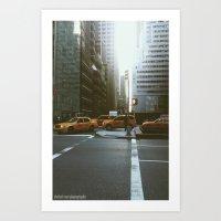 Streets of NYC Art Print