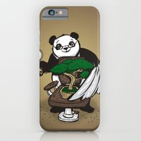 iPhone & iPod Case featuring The Bonsai Barber by awkwardyeti