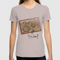 Vintage Map Womens Fitted Tee Cinder SMALL