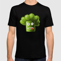 Stressed Out Broccoli Mens Fitted Tee Black SMALL
