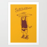 Superwerewolf Art Print