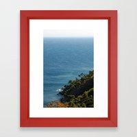 Seascape France Cote d'Azur 1766 Framed Art Print