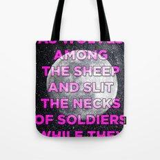We Prey As Wolves Tote Bag