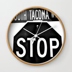 South Tacoma Stop Wall Clock