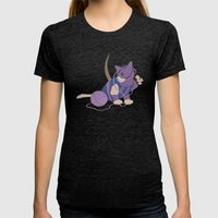 Cateye Of The Catvengers Womens Fitted Tee Tri-Black SMALL