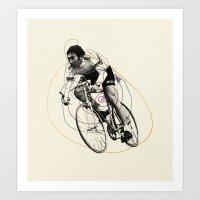 Spiral Cyclist Art Print