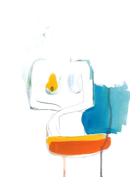 Orange + Blue Art Print