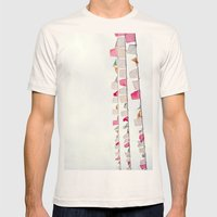 Prayer Flags No. 2 Mens Fitted Tee Natural SMALL