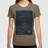 Man & Nature - The Dangerous Sea Womens Fitted Tee Tri-Coffee SMALL