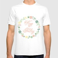 Keep Smiling Mens Fitted Tee White SMALL