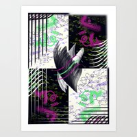 Crows And Eagles Art Print