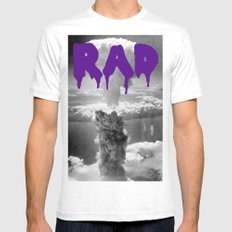 rad White SMALL Mens Fitted Tee