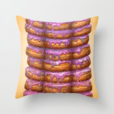 Donuts II 'Bon appetit Homer' Throw Pillow