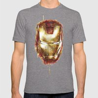 Iron Man Mens Fitted Tee Tri-Grey SMALL