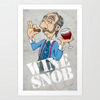 Wine Snob Art Print