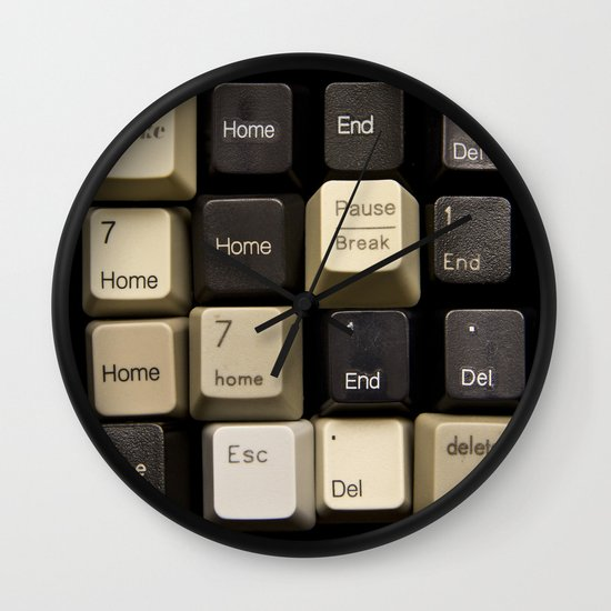 Custom Keyboard Wall Clock
