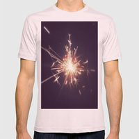 Fireworks Mens Fitted Tee Light Pink SMALL