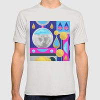 Abstractions No. 3: Moon Mens Fitted Tee Silver SMALL