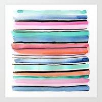 Festive Jolie Stripe Art Print