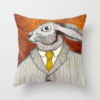 El Conejo Careta Throw Pillow
