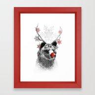 Rudolph The Bear Framed Art Print
