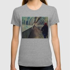 Onward Into The Tunnel Forbidden  Womens Fitted Tee Athletic Grey SMALL