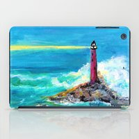 Lighthouse Abstract Painting iPad Case