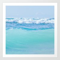 Kapukaulua Pure Blue Surf Art Print