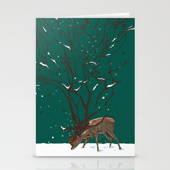 Winter Is All Over You Stationery Card