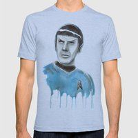 Live Long and Prosper Mens Fitted Tee Athletic Blue SMALL