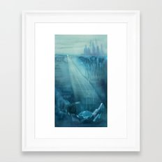 Earth-Birth - Ink wash painting Framed Art Print