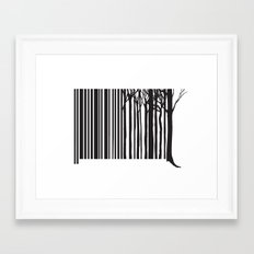 Treecode Framed Art Print