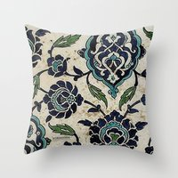 tile design Throw Pillow