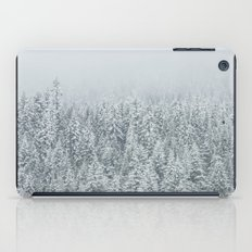 snow  forest winter trees iPad Case