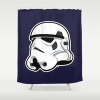 Trooper Bucket - Star Wars Shower Curtain