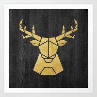 Geometry Of A Deer Art Print