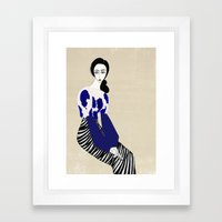 Henri Matisse inspired fashion Framed Art Print