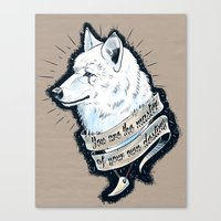 Wolf Protector Canvas Print