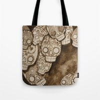 skull fresco Tote Bag