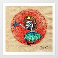 Ugly Princess Is Looking… Art Print