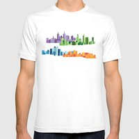 Australian Cities Mens Fitted Tee White SMALL