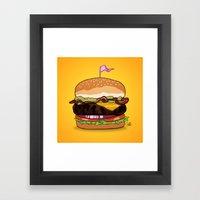 Bacon Cheeseburger Framed Art Print