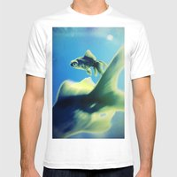 One Fish Two Fish Mens Fitted Tee White SMALL