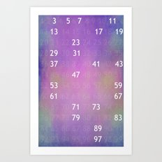 The solitude of Prime Numbers Art Print