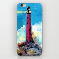 Lighthouse Abstract Painting iPhone & iPod Skin