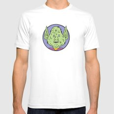 goblin White SMALL Mens Fitted Tee