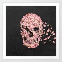 flowers Art Prints featuring A Beautiful Death  by Terry Fan