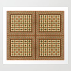 Textile Pattern 1 Art Print